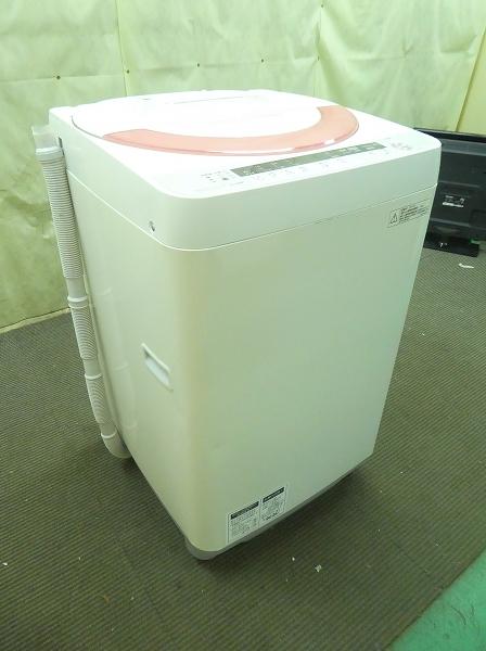 【2100421】 シャープ /2014年式/6kg/全自動洗濯機 ES-GE60P-P