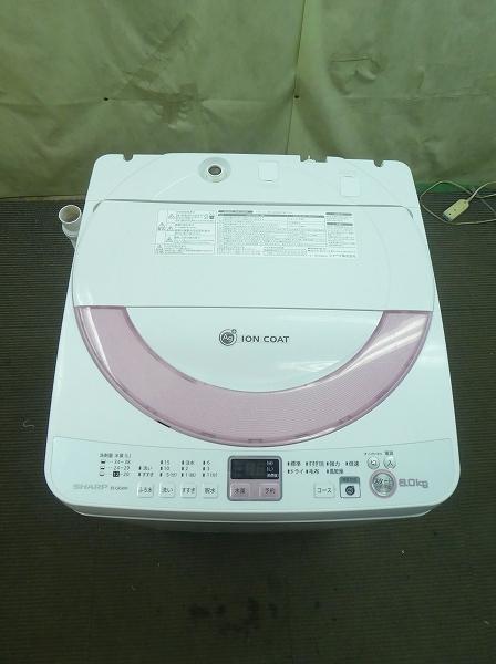 シャープ/Ag+イオンコート /2014年式/6kg/全自動洗濯機 ES-GE60N-P●