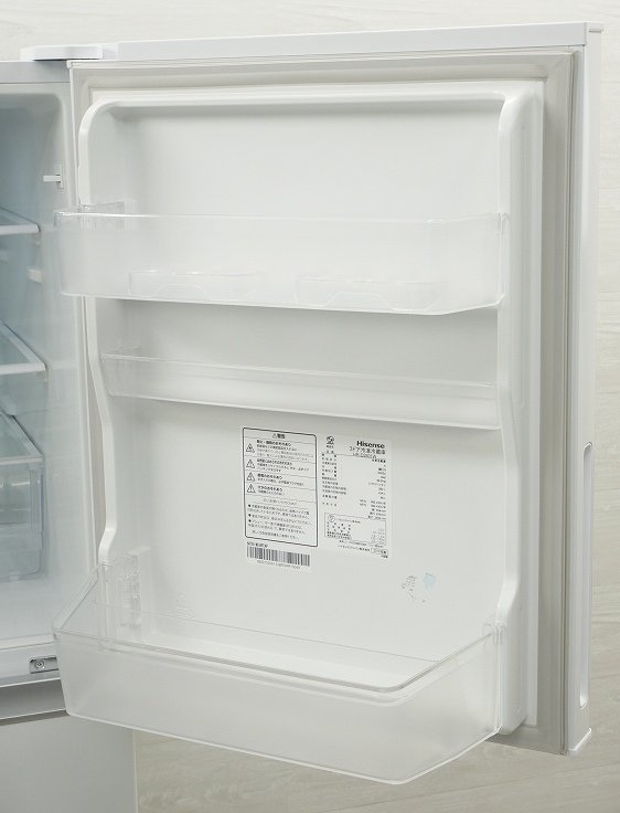 Hisense製3ドア/2019年式/282L/冷蔵冷凍庫/HR-D2801W●◆