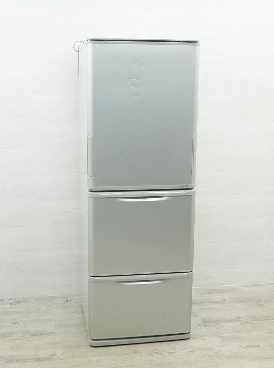 シャープ製3ドア/2016年式/350L/ノンフロン冷蔵冷凍庫/SJ-W351C-S