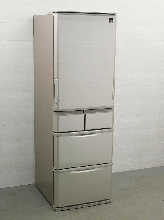 シャープ製6ドア/2016年式/ 424L/ノンフロン冷蔵冷凍庫/SJ-PW42B-S●【3010812】