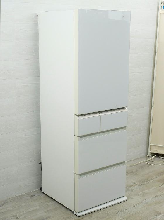 Panasonic製5ドア/2016年式/ 426L/ノンフロン冷蔵冷凍庫/NR-E431GV-W●