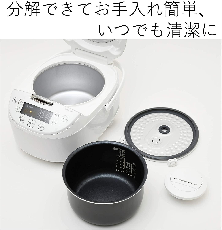 【新品】山善/1.0L 5.5合/マイコン炊飯器◆メーカー保証1年◆