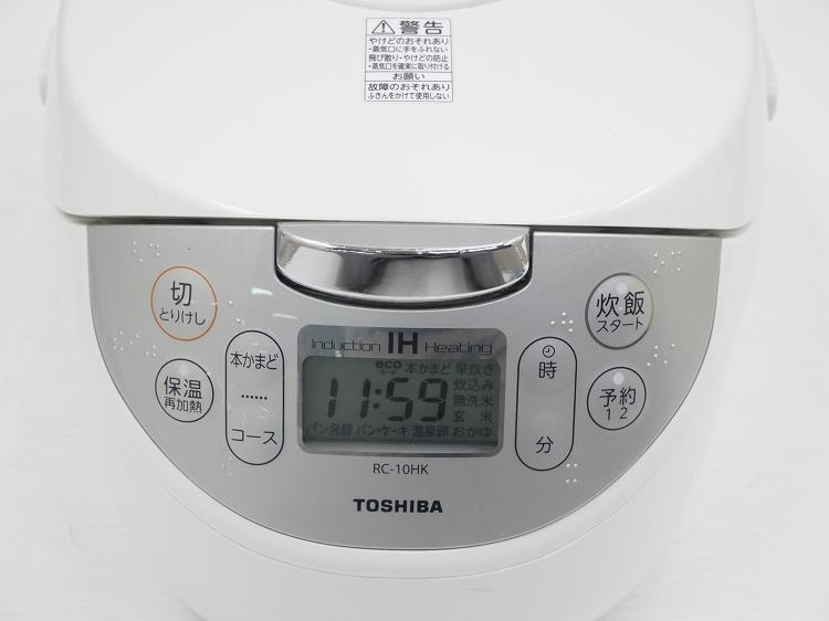 東芝製/年式不明/1.0L 5.5合/炊飯器/RC-10HK