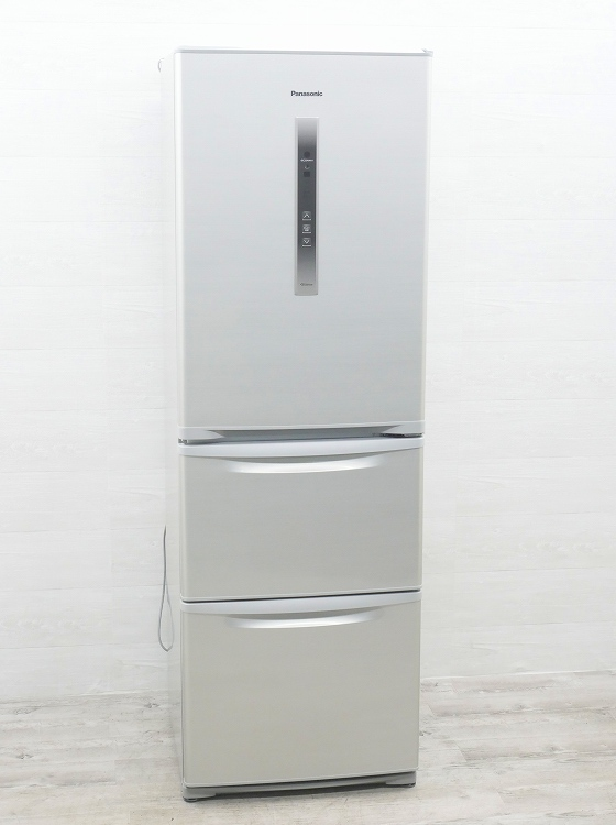 Panasonic製3ドア/2014年式 /365L/冷蔵冷凍庫/NR-C37CM-S●