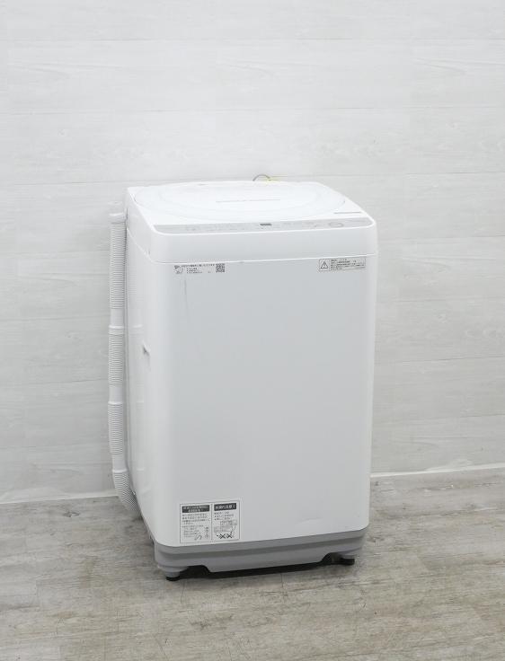 シャープ製/2018年式/7kg/全自動洗濯機/ES-GE7B-W●◆