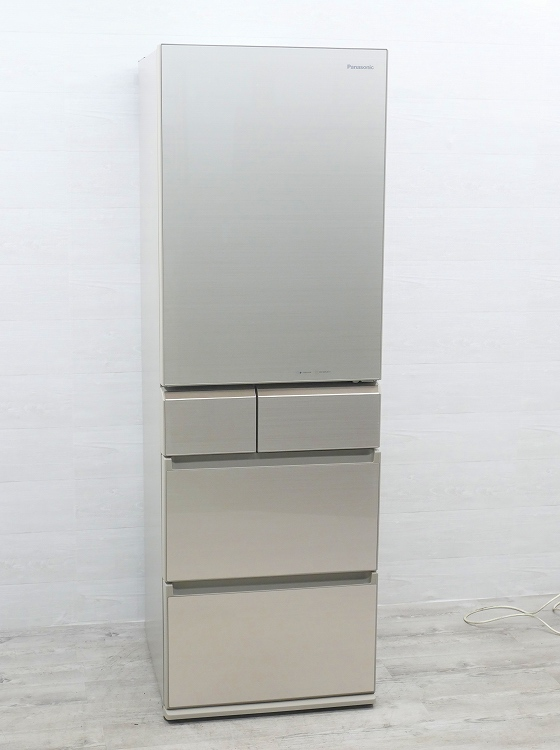 Panasonic製5ドア/2017年式/ 406L/ノンフロン冷蔵冷凍庫/NR-E413PV-N●
