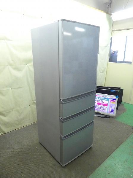 アクア製4ドア/2017年式/ 355L/ノンフロン冷蔵冷凍庫/AQR-361FL(S)●【2120718】