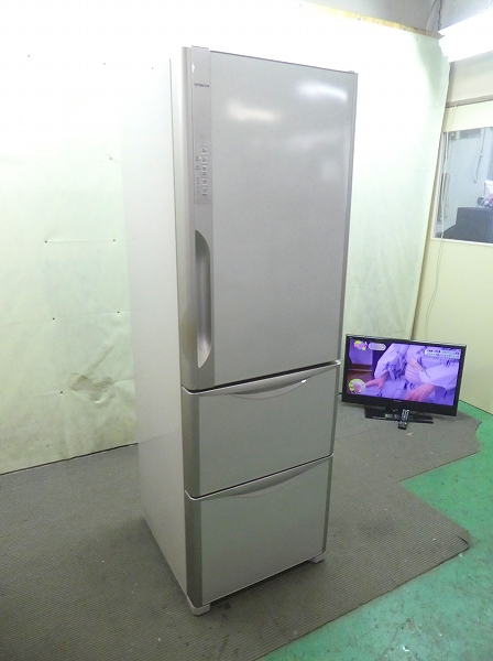 日立製3ドア/2014年式/365L/ノンフロン冷蔵冷凍庫/R-K370EV(T)●【2121417】