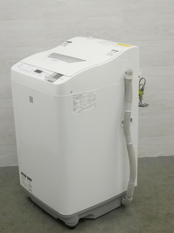 シャープ製/2017年式/5.5kg/洗濯乾燥機/ES-T5E4-KW●【2122228】