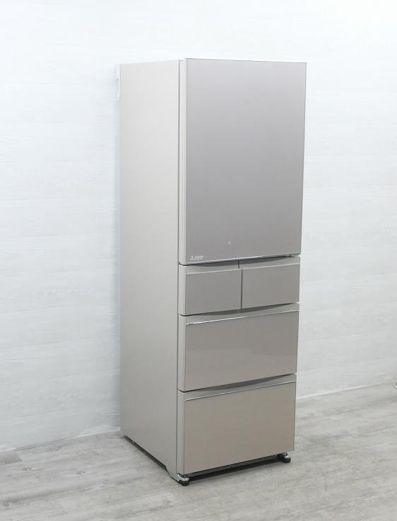 三菱製5ドア/2021年式/455L/ノンフロン冷蔵冷凍庫/MR-B46F-F1●
