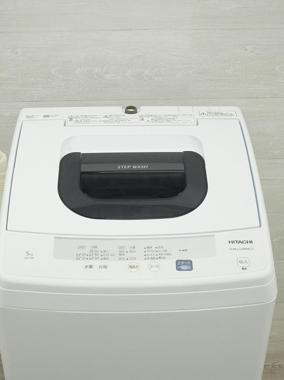 日立製/2019年式/5kg/全自動洗濯機/NW-50E●