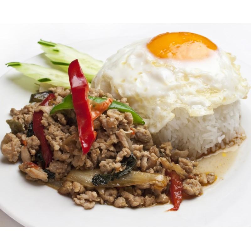ティーヌン ガパオ 鶏挽き肉のバジル炒め (1.5人前)