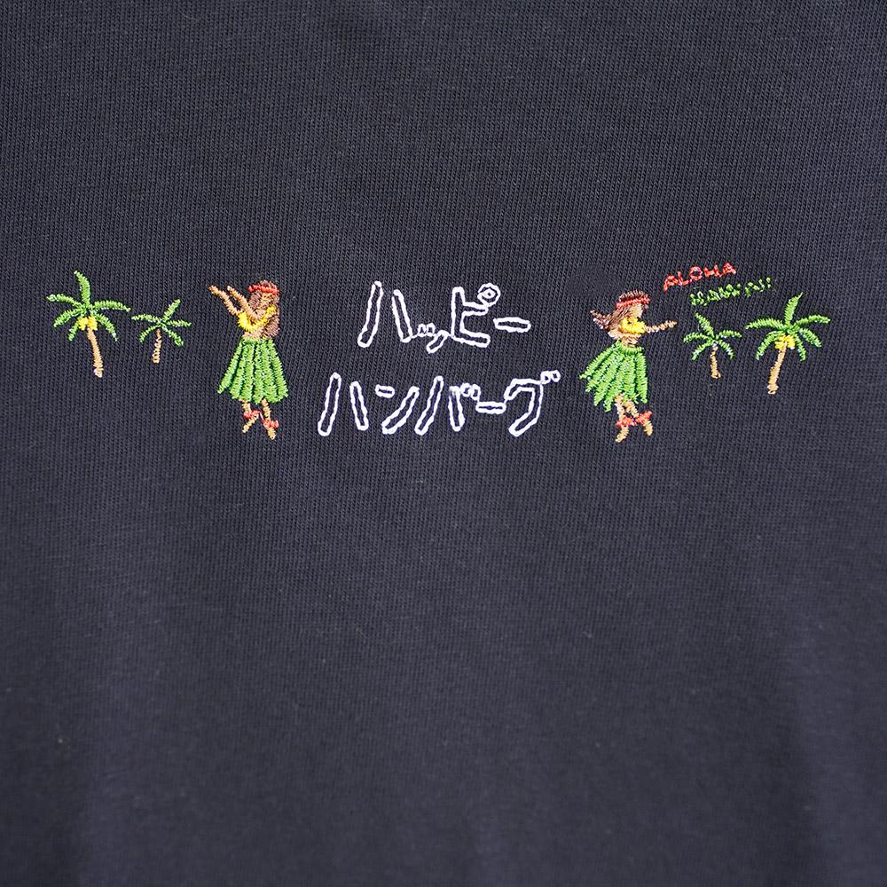 アロハ刺繍Tシャツ3 【ネイビー】