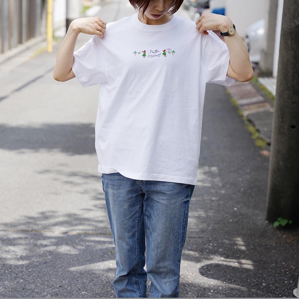 アロハ刺繍Tシャツ3 【ワイキキサンド】