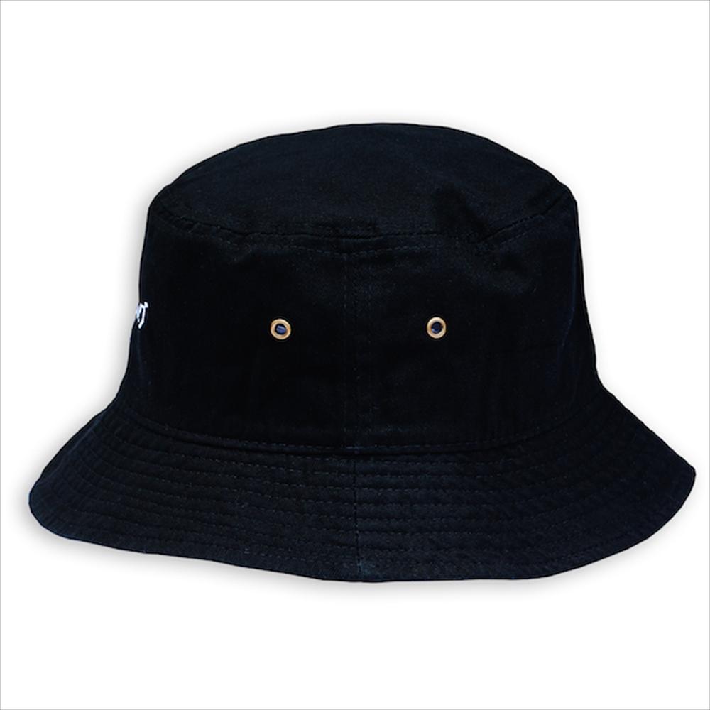 ハッピーハンバーグ バケットハット ブラック