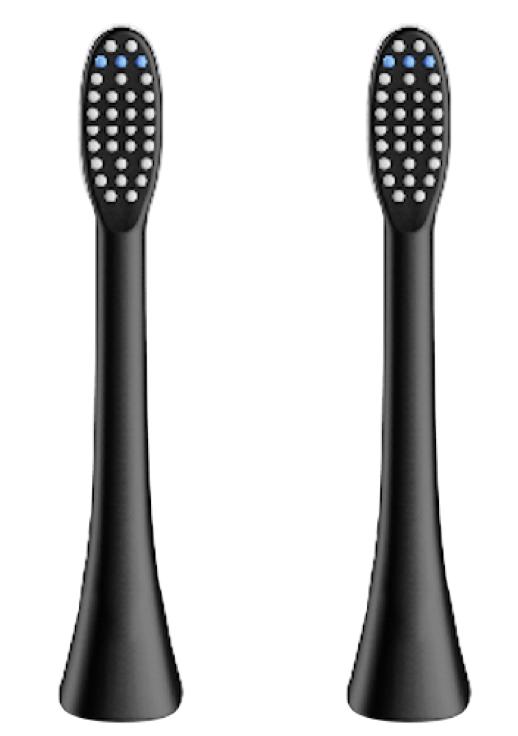 (正規品)InfinitusValue スマートトラッキング電動歯ブラシ専用替えブラシ レギュラーサイズ 2本組 ブラック