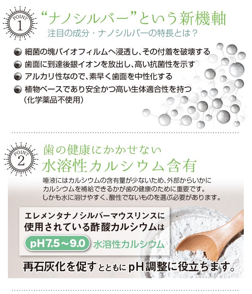 エレメンタ ナノシルバー マウスリンス アルカリ性 化学薬品不使用 驚くほど美味しい 最先端の口臭・虫歯予防 大容量ファミリーボトル 591ml (ウィンターミント味)