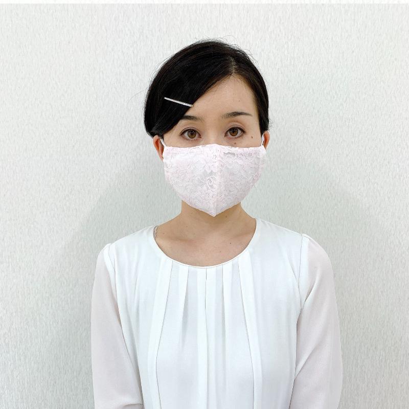 【数量限定】オーガニック テンダーレースマスク 呼吸がしやすいエアリーなつけ心地