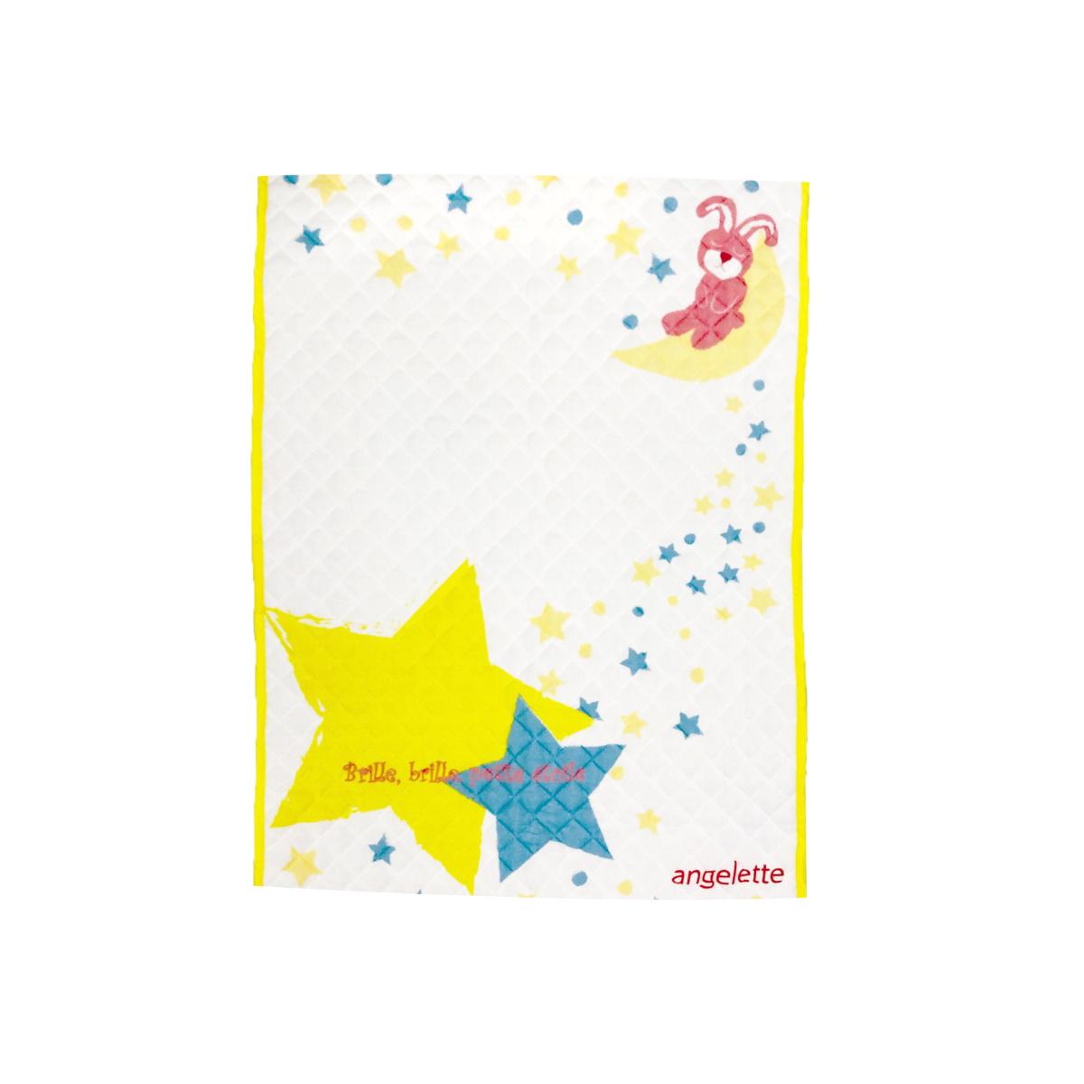 angelette 2-Way パイル敷きパッド お星さまとウサギ 【ネックピロー付】
