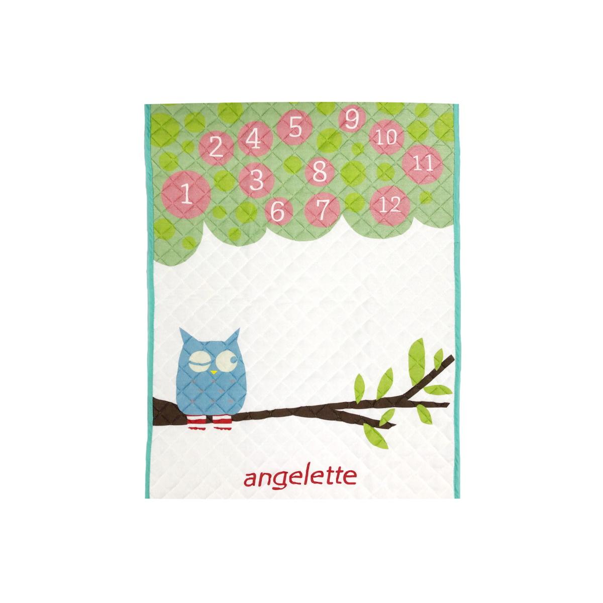 angelette 2-Way パイル敷きパッド 森のフクロウ【ネックピロー付】