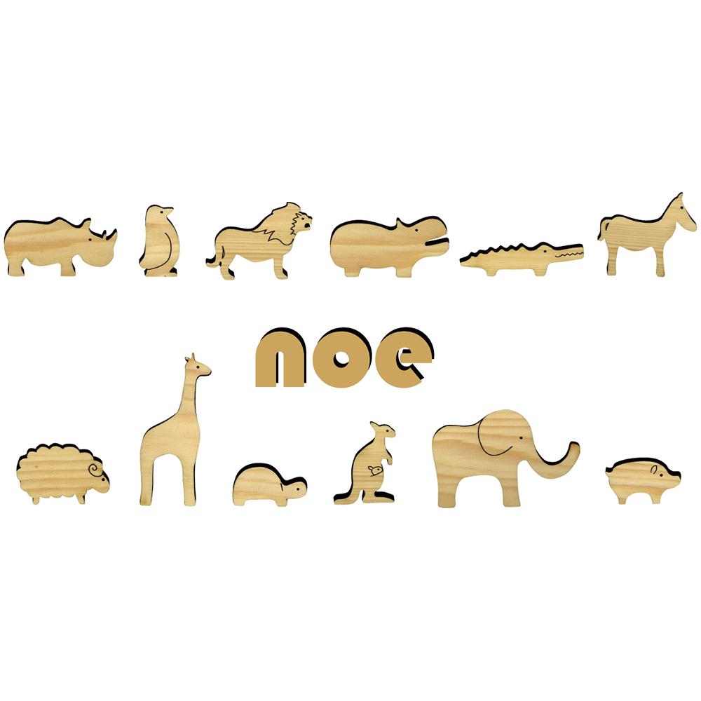 動物 積み木のおもちゃ NOE