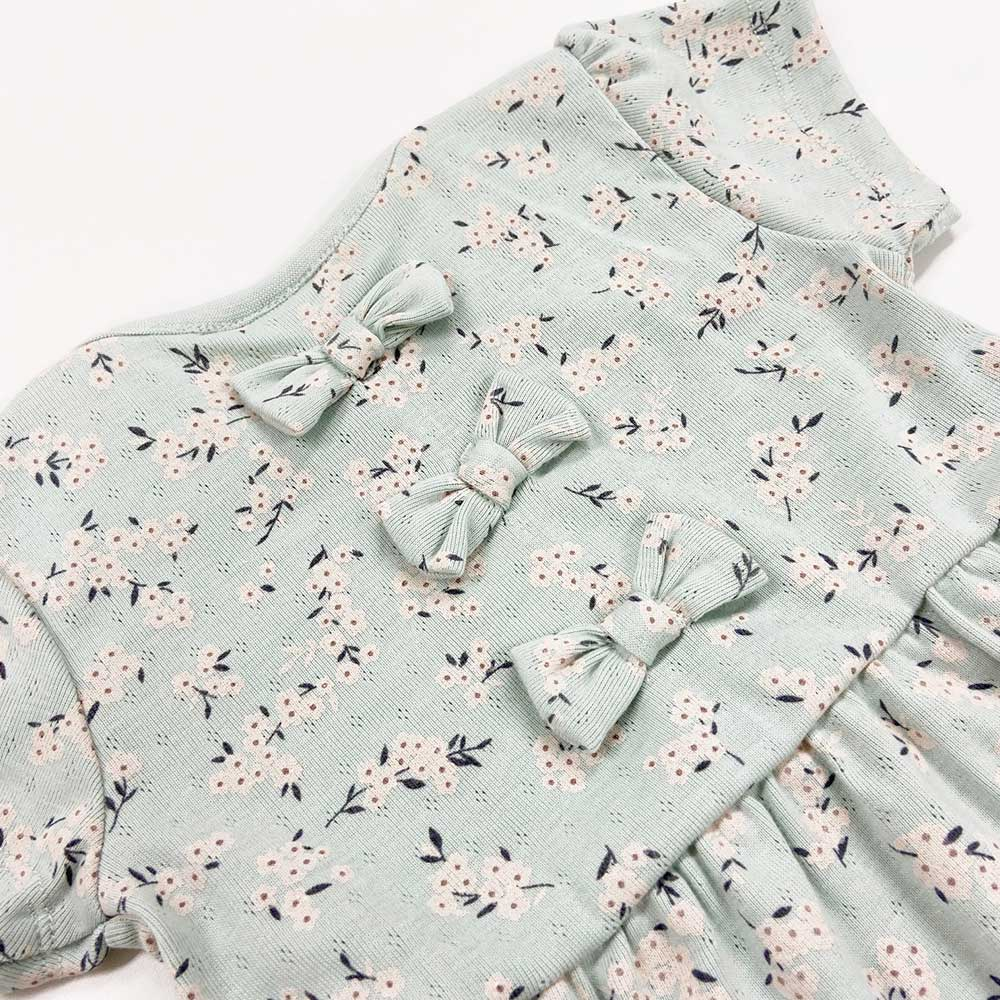 【セール価格50%OFF】 バックリボン花柄Tシャツ 80 90