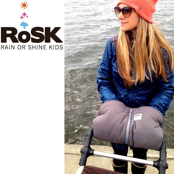 RoSK 防寒ハンドマフ ライラック×ブラック