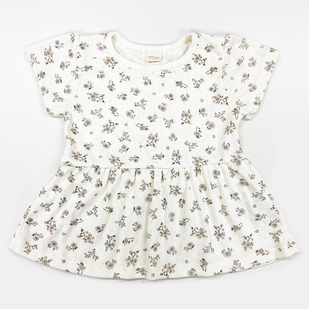 【セール価格50%OFF】 バックリボン花柄Tシャツ 100 110