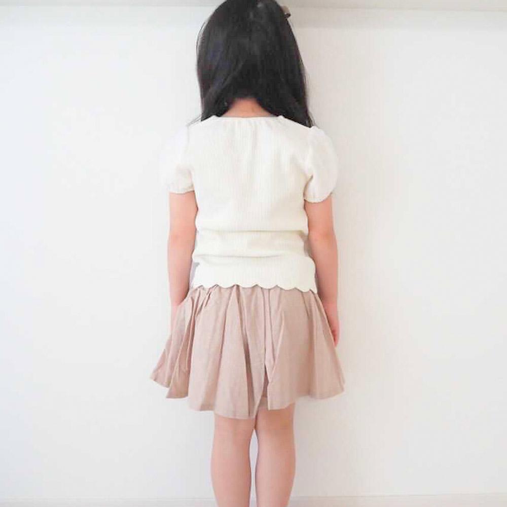 【セール価格50%OFF】 透かしパフスリーブTシャツ