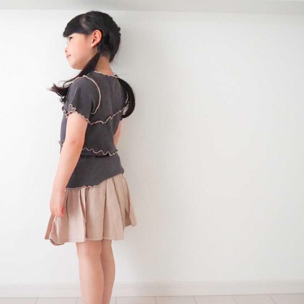 【セール価格50%OFF】 配色メローフリルTシャツ