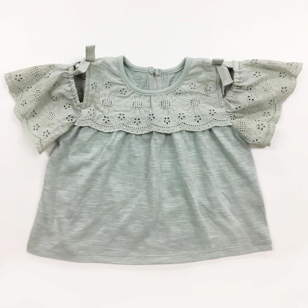 オフショルレースTシャツ