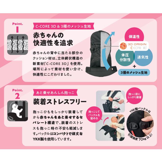 新発売! angelette ベビーキャリア クアトロエアー3.2