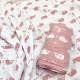 【セール価格30%OFF】FRESK モスリンスワドル2枚セット ピンク くじら 120cm×120cm【ネックピロー付】