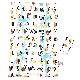 angelette ガードカバー付きチェアクッション アルファベットアニマル