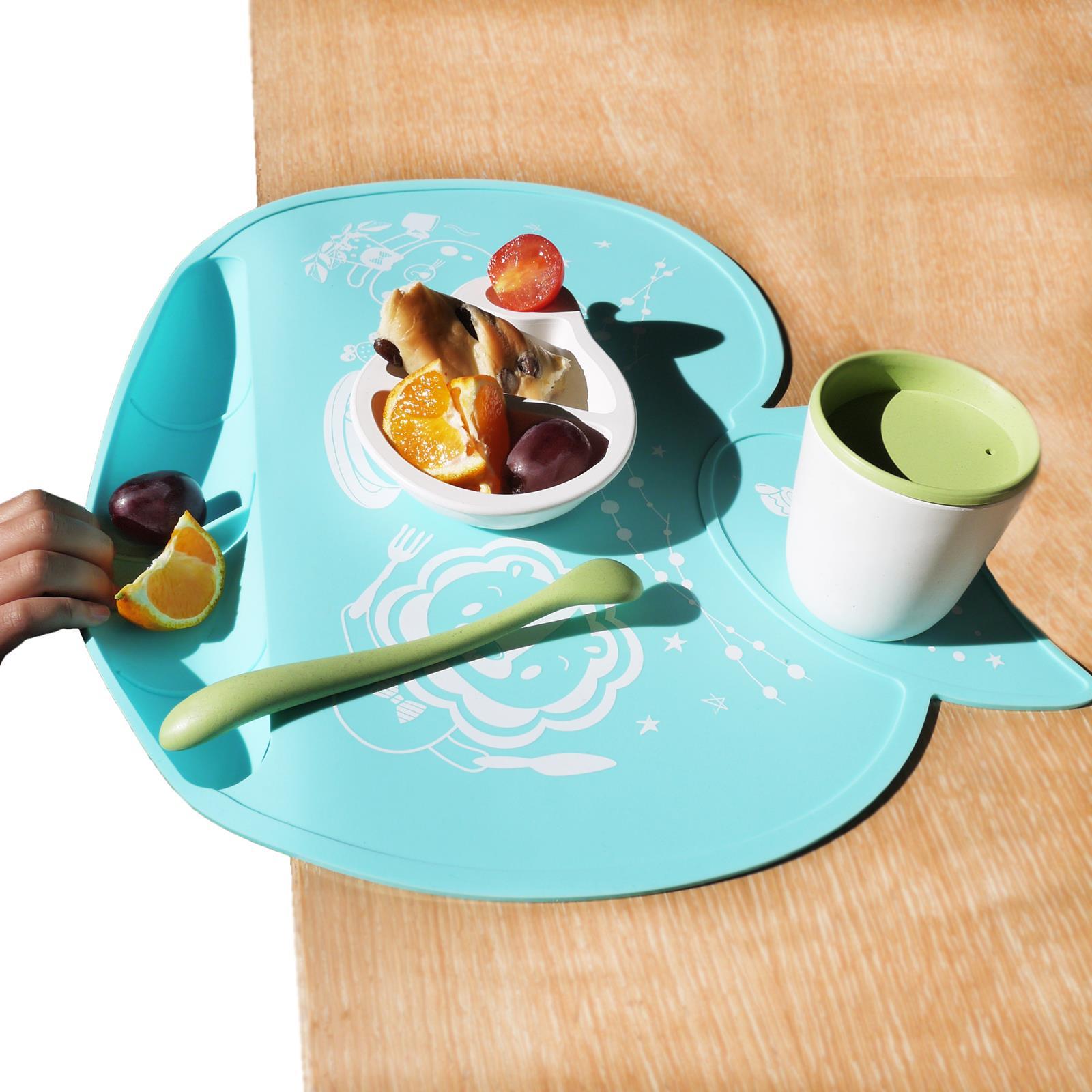 angelette りんご型 お食事シリコンマット ピンク