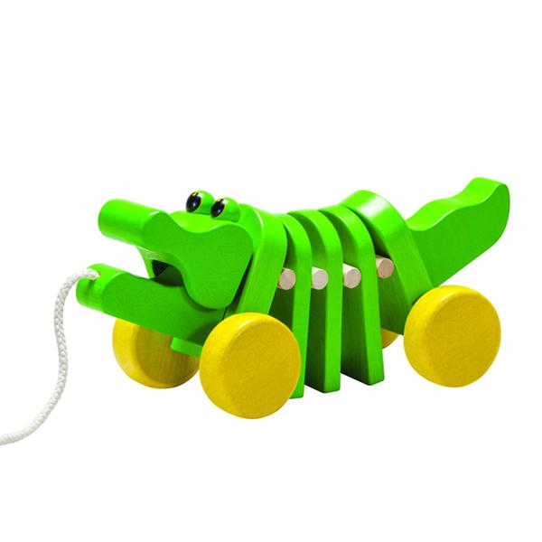 Plantoys 木のおもちゃ ダンシングアリゲーター