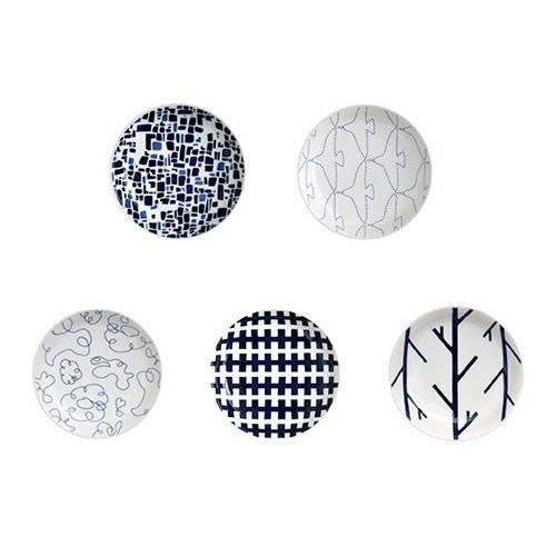 スウォッチ 小皿[パターン�](5点セット)