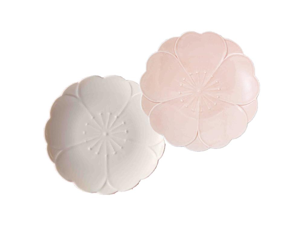 桜のおもてなし皿(紅白セット)【送料無料】