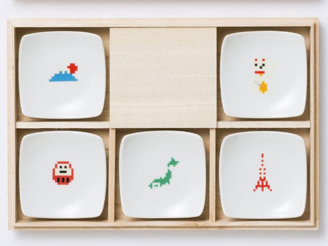 日本 箸置小皿(5点セット)