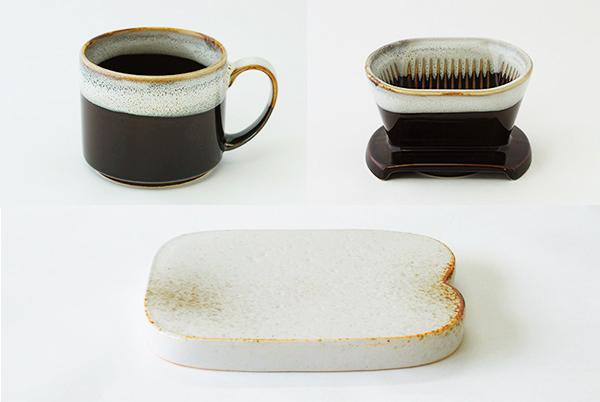 パン皿・コーヒーカップ・ドリッパー(3点セット)