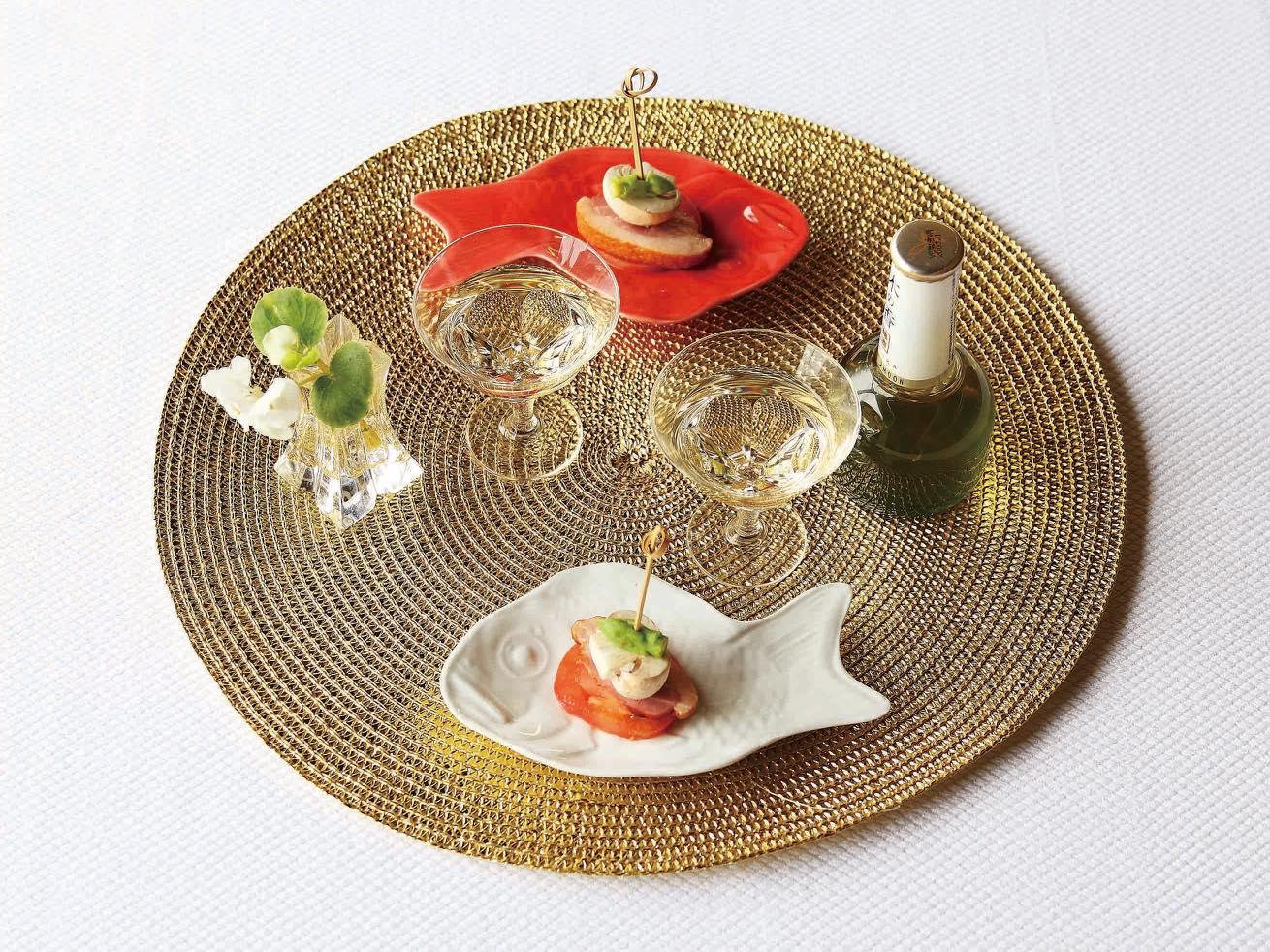 めで鯛 小皿(紅白セット)