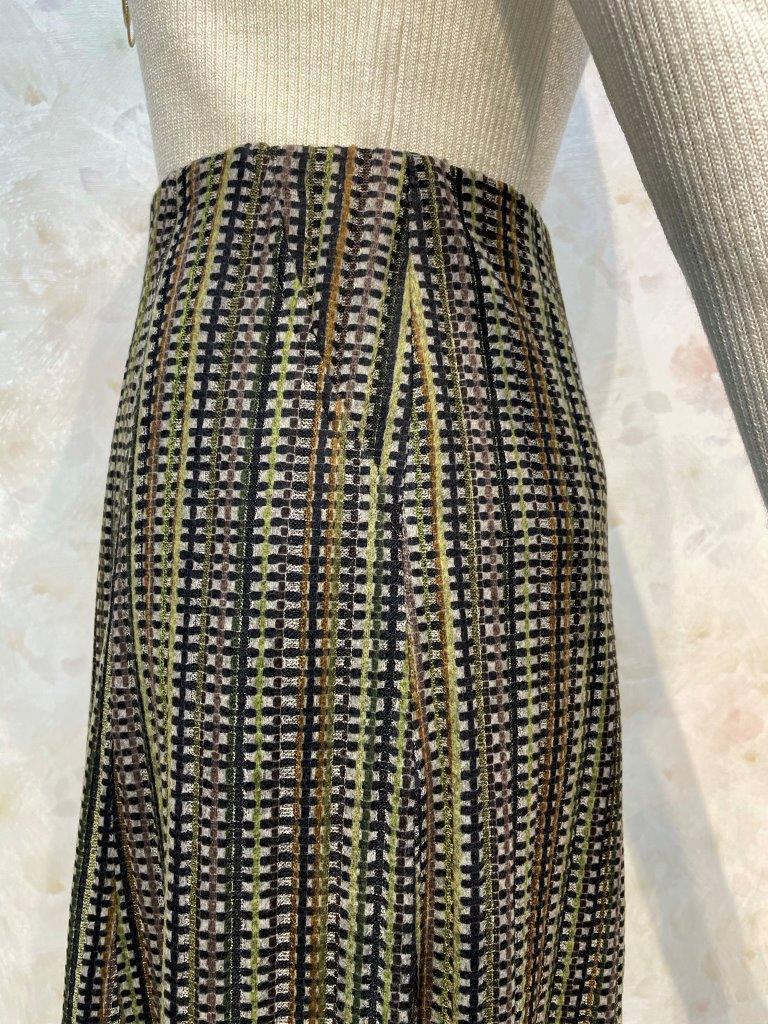 テレコストライプ8枚接ぎスカート