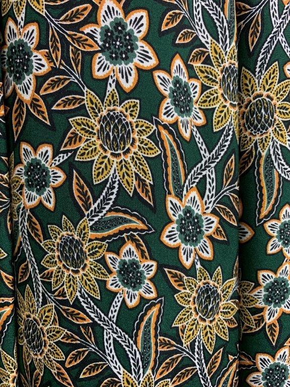 アフリカンボタニカルプリントスカート