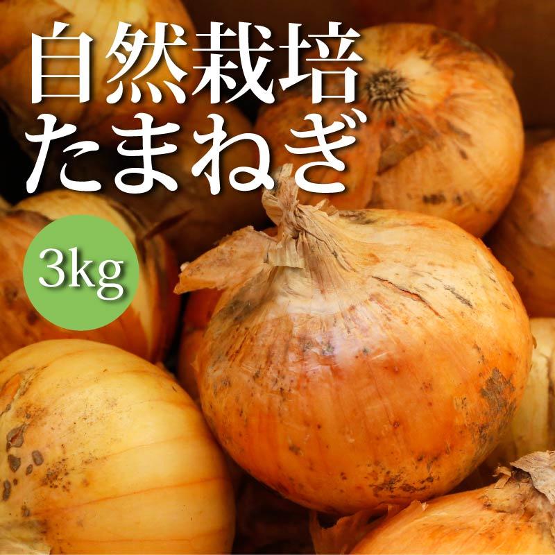 【たっぷりお得!】自然栽培玉ねぎ 3kg
