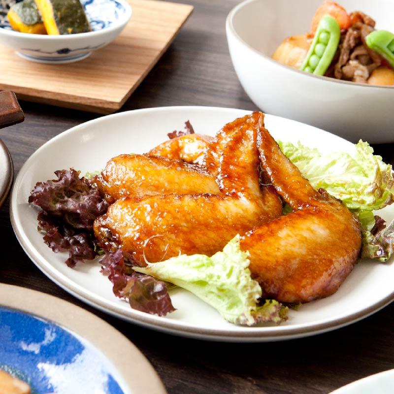 【日本料理店「きじま」特製惣菜】神山鶏 手羽黒酢煮 5本入 ★予約商品