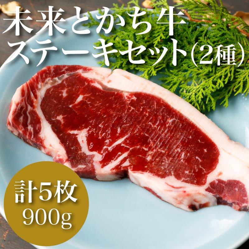 【北海道・本州・四国送料込】未来とかち牛ステーキセット(2種)