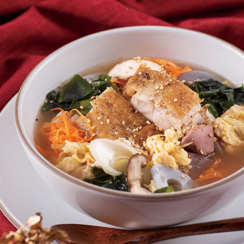 【日本料理店「きじま」特製惣菜】神山鶏の親子スープ 中華風 1食入 ★予約商品