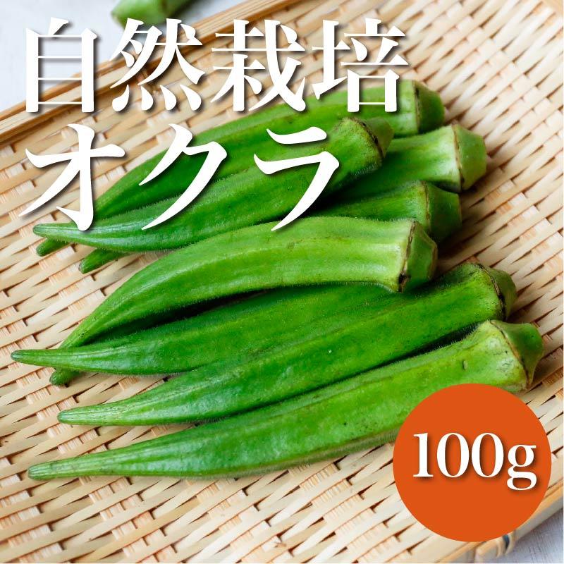 自然栽培 オクラ 100g