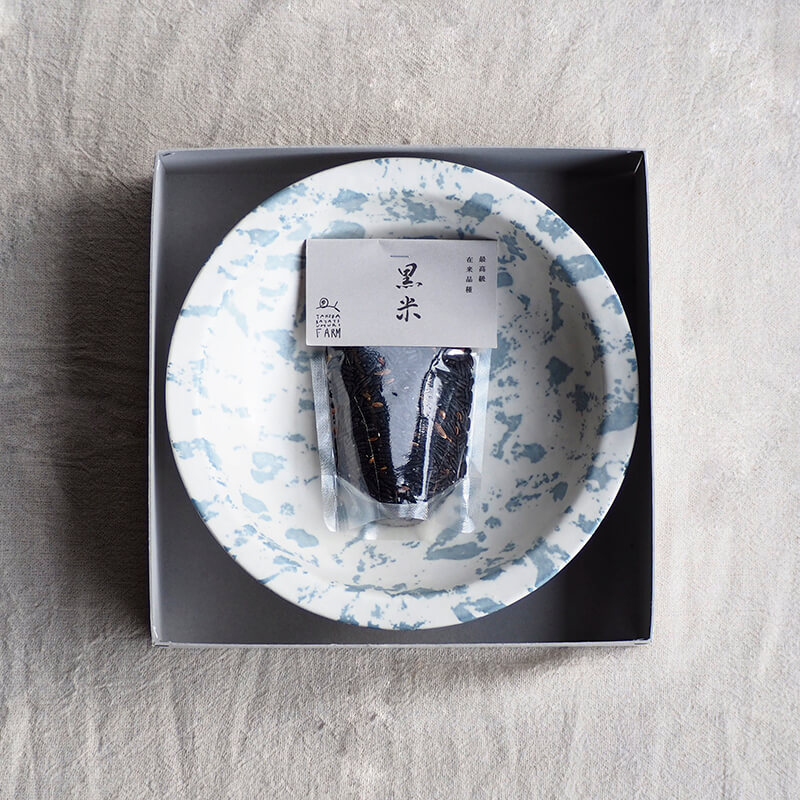 【ストア限定】 mandala リム鉢&黒米セット